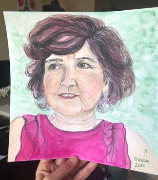 watercolor mom
