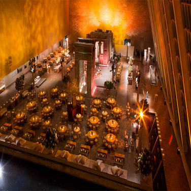 International merger celebration dinner for a Fortune 500 Company.   Temple of Dendur, The New York Metropolitan Museum of Art, New York City.