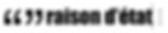 Logo Raison d'État