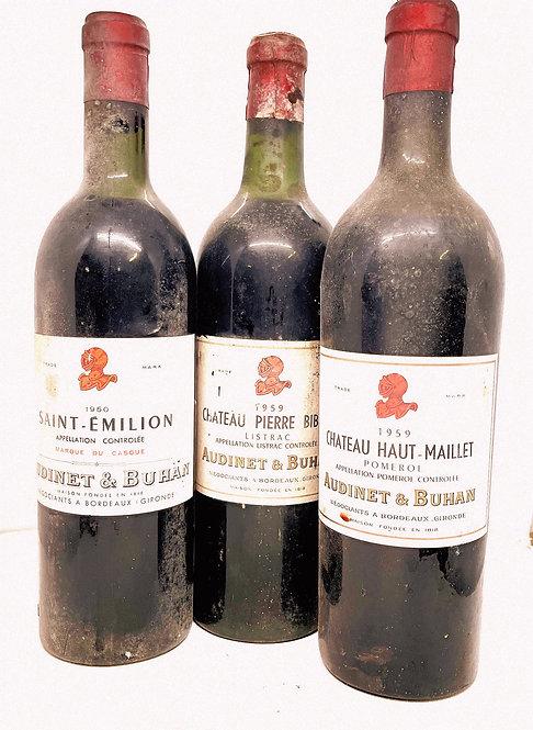 Trois grands Bordeaux d'autrefois
