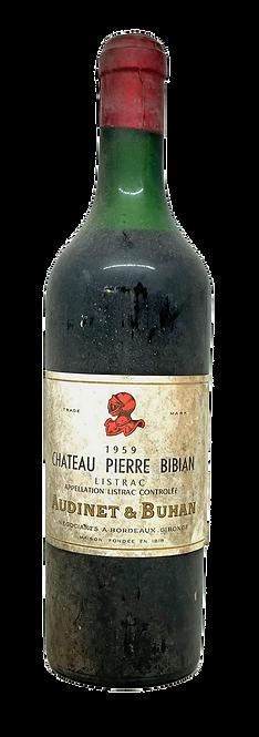 Château Pierre Bibian, 1959, Appellation Listrac contrôlée
