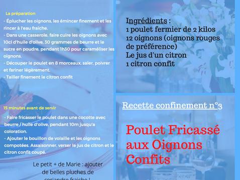 Recette n°3 du confinement - Le Poulet du Dimanche