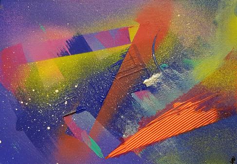 Cruising Through the Ionosphere: Deep Blue (29.7x21)