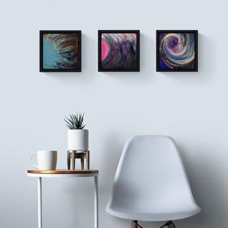 Wind Trilogy (20x20cm, framed)