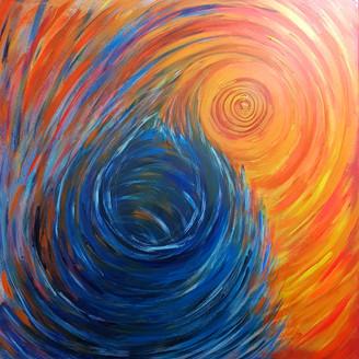 Everything Spins (100x100cm)