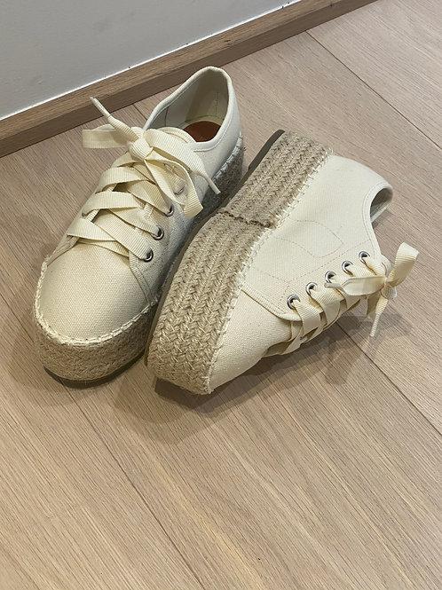 Schoenen Beige hoge zool