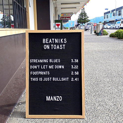 Manzo - Beatniks on Toast (CD) in card sleeve