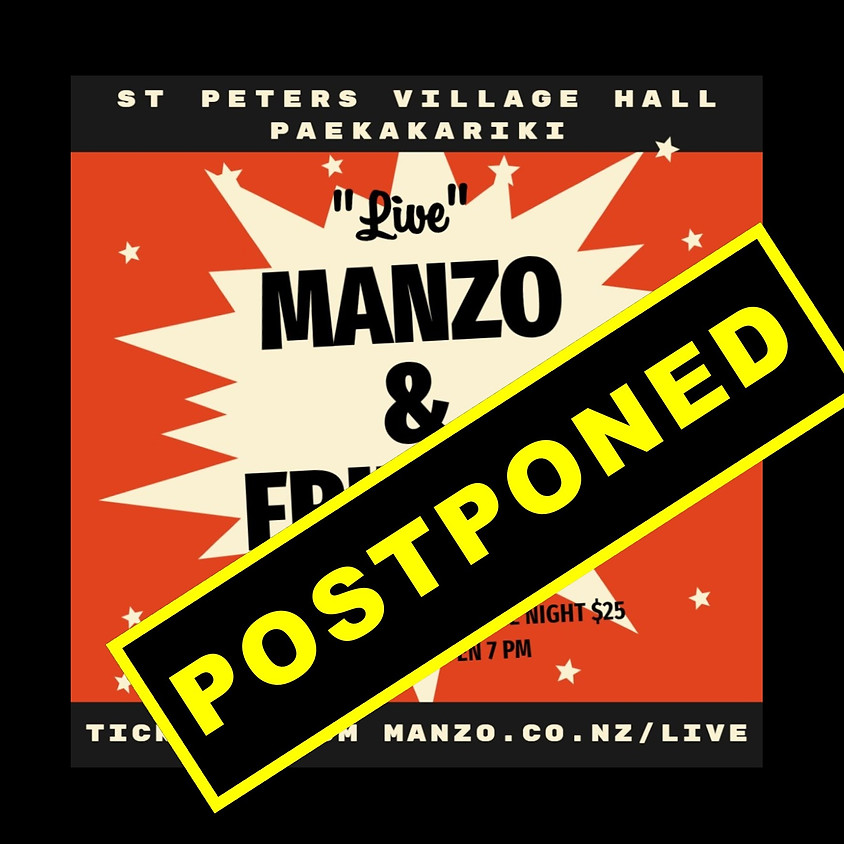 Manzo & Friends - POSTPONED DUE TO THE COVID -19 PANDEMIC