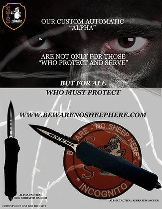 Alpha AOTF Standard Tactical Dagger Serrated or Non