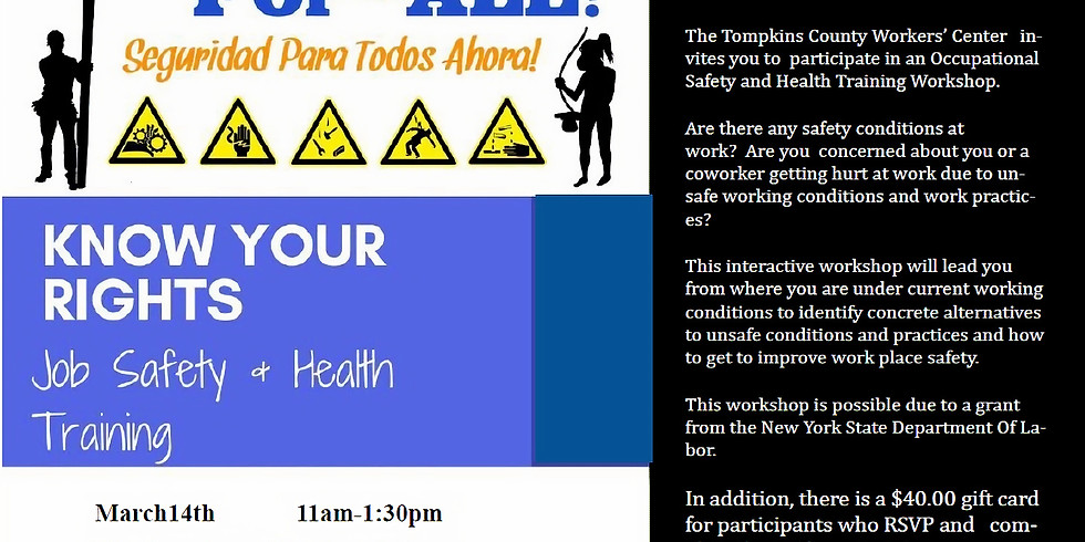 Job Safety and Health Training