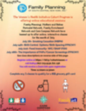 WHI Education sessions flyer July 2020 1