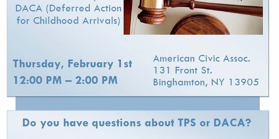 TPS and DACA Information Session