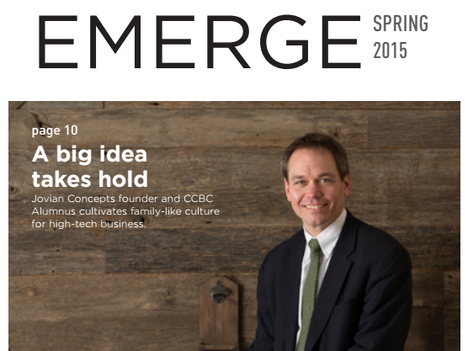 Jovian Concepts Founder and CCBC Alumnus Featured in Emerge