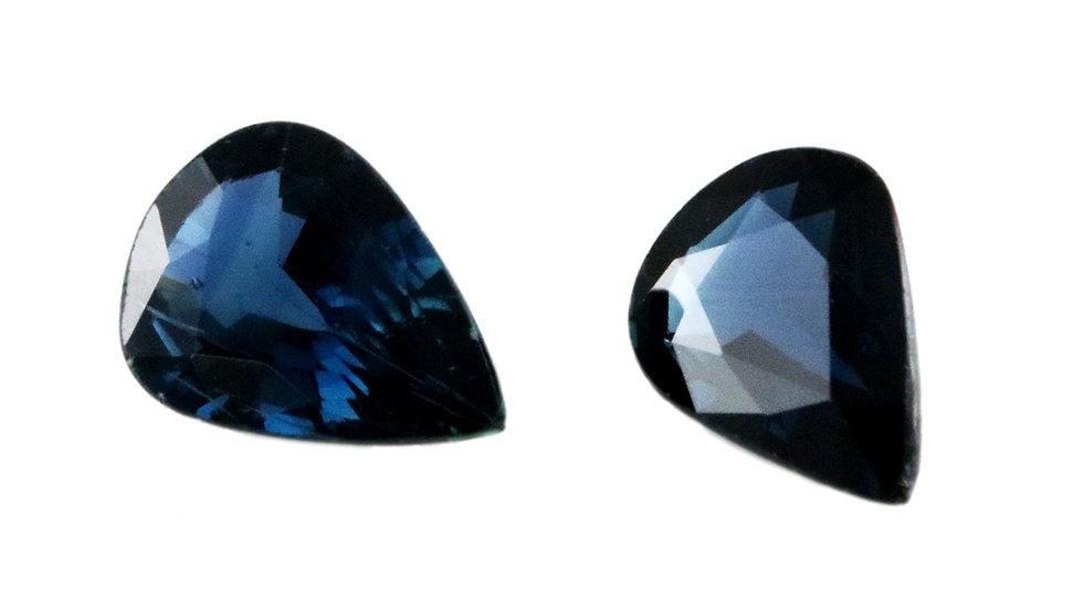天然石 ルースストーン サファイア(ペア) 1.368ct (4-5)