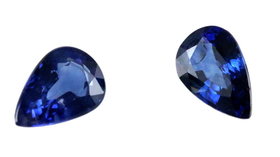 天然石 ルースストーン サファイア(ペア) 1.660ct (4-6)