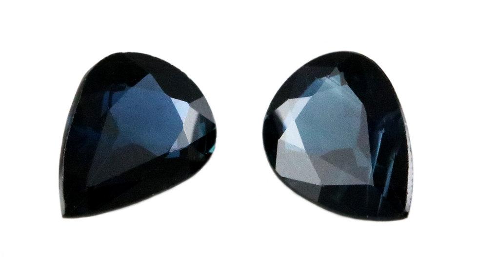 天然石 ルースストーン サファイア(ペア) 1.695ct (4-3)