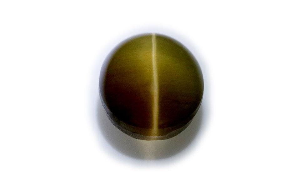 天然石 ルースストーン(裸石) シリマナイト・キャッツアイ 3.8ct (3-5)