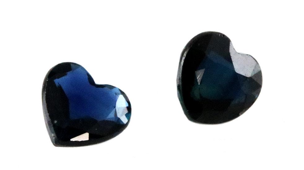 天然石 ルースストーン サファイア(ペア) 0.612ct (4-4)