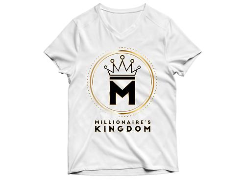 Millionaire's Kingdom Women's Logo V-Neck Tee