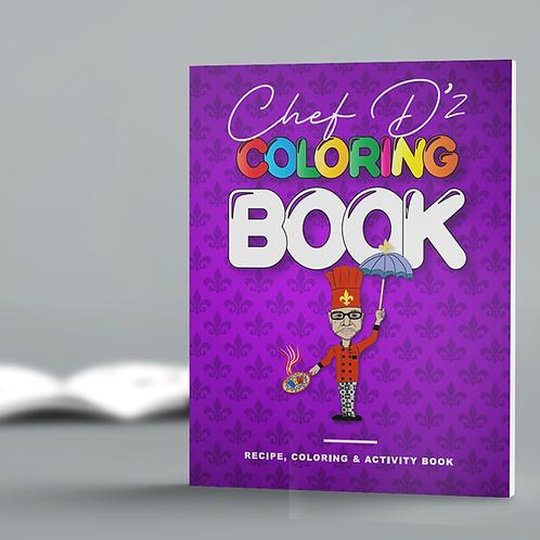 Chef D'z Recipe, Coloring & Activity Book