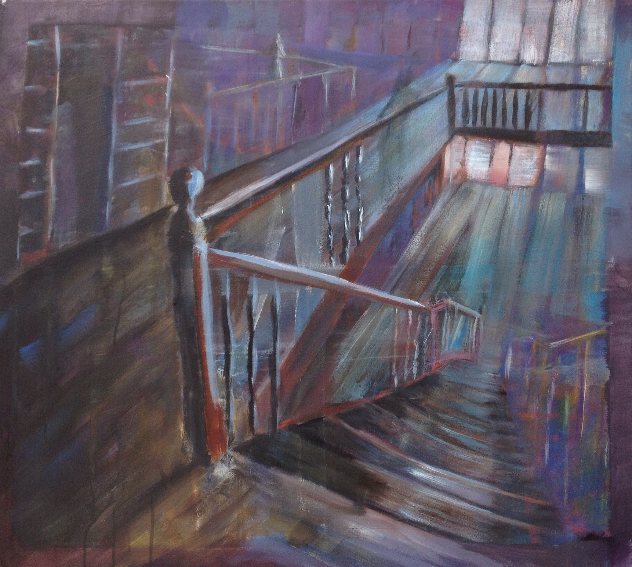 ghosts by the stairs