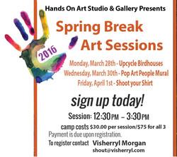 Hands On Art Spring Break Session