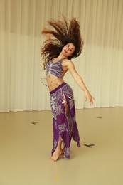An oriental belly dance..