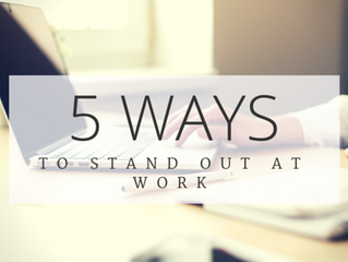 5 ways to stand out at work. Plus, free infographic!
