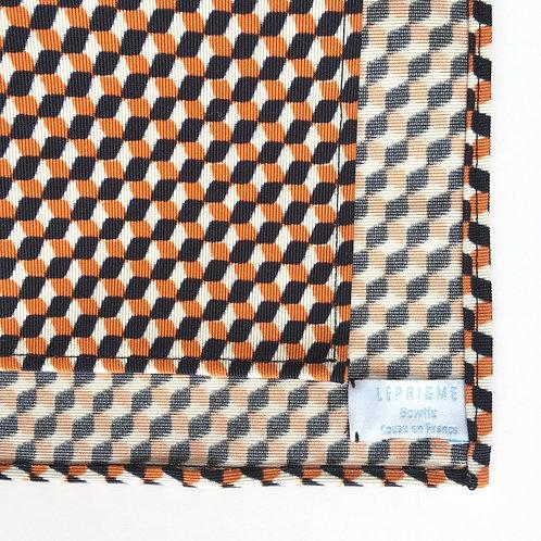 pochette motif géométrique orange
