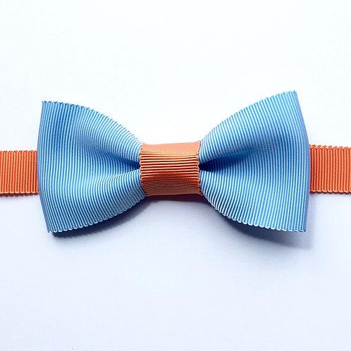 noeud papillon bleu ciel et orange