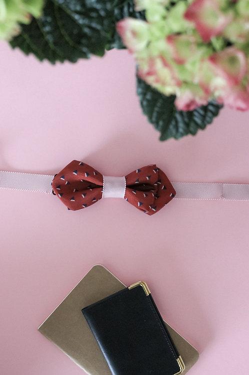 Noeud papillon terracotta & rose dragée