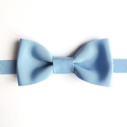 noeud papillon bleu ciel uni en ottoman oeko tex