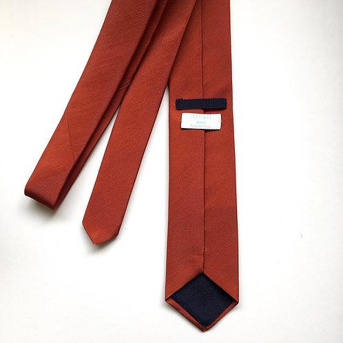 Cravate couleur terracotta