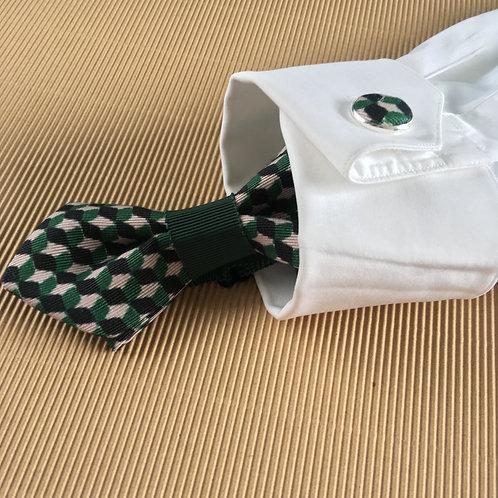 Bouton de manchette vert anglais en porté