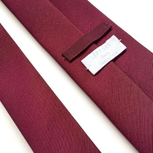 Cravate unie bordeaux