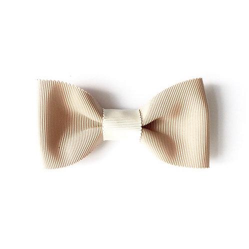 noeud papillon beige pour femme cousu main