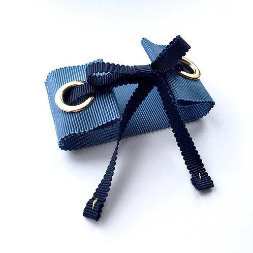 bracelet bleu tissus