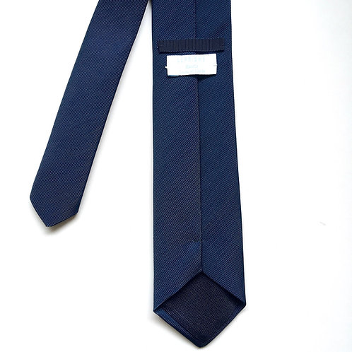 Cravate bleu marine unie