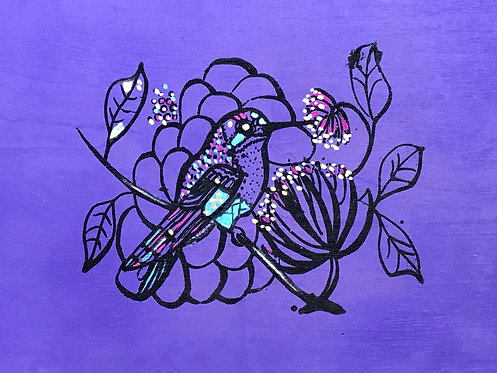 07 Purple Bird by Ann Zanbilowicz
