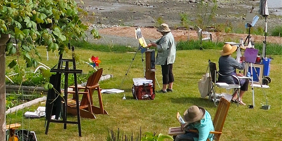 Paint and Tea in Garden by the Sea.