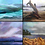 Thumbnail: 45 Ocean Wave set of 4  by Coleen Purdey- Morrison