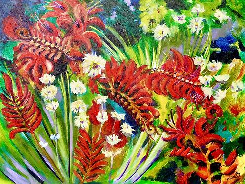 52 Summer Crocosmia by Kate Brown