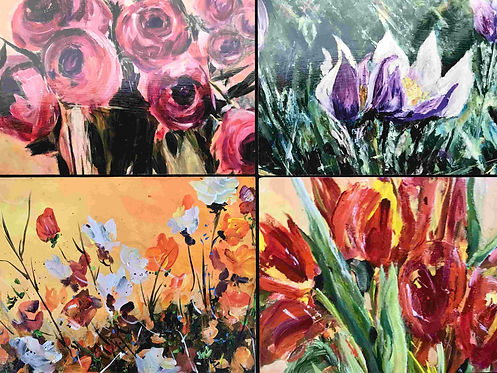 30 Flowers Collection of 4 by Doris Wilson