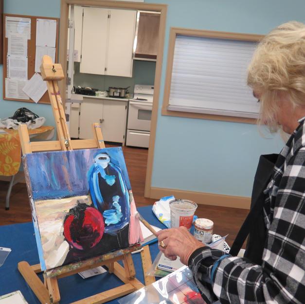 Doris Wilson in studio.