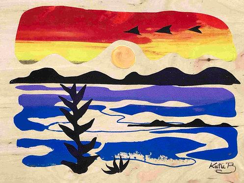 72 Rainbow Sunrise Set of 4 (similar) by Kate Brown
