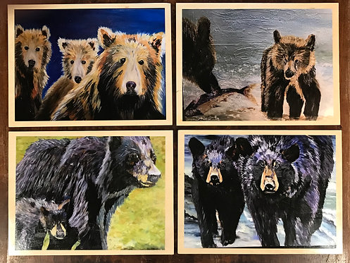25 Bears Collection of 4 by Doris Wilson