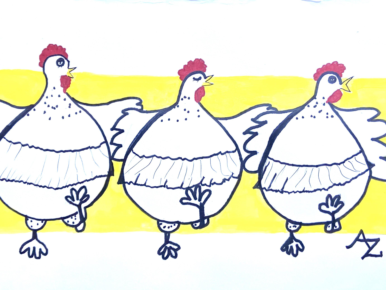 Funky Chickens - Ann Zanbilowicz