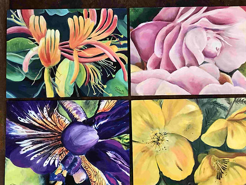 15  Garden Bloom set of 4 by Kate Brown