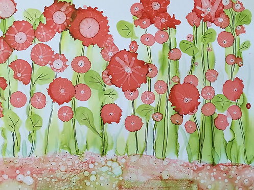 56 Poppies in Ink by Tina Manders