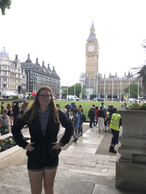 Senior attends college abroad